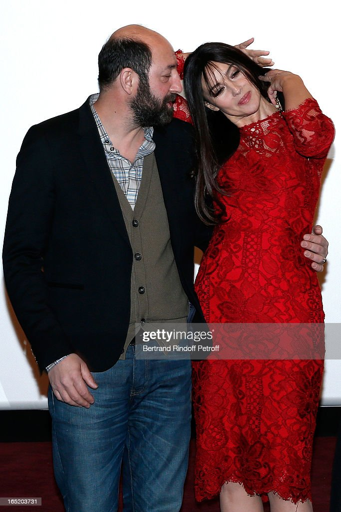 Actor Kad Merad and Actress Monica Bellucci attend 'Des gens qui s'embrassent' movie premiere at Cinema Gaumont Marignan on April 1, 2013 in Paris, France.