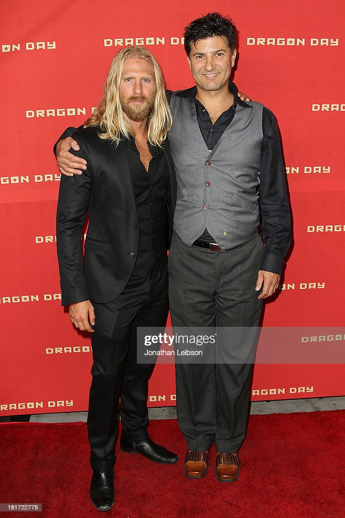 Actor Kaiwi Layman and Ethan Flower attend 'Dragon Day' Red Carpet at Downtown Independent Theatre on September 23, 2013 in Los Angeles, California.