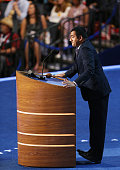 Actor Kal Penn speaks during day one of the Democratic National Convention at Time Warner Cable Arena on September 4 2012 in Charlotte North Carolina...