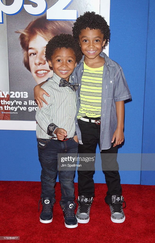 Actor Kaleo Elam and brother Makari Elam attend the 'Grown Ups 2' New York Premiere at AMC Lincoln Square Theater on July 10, 2013 in New York City.