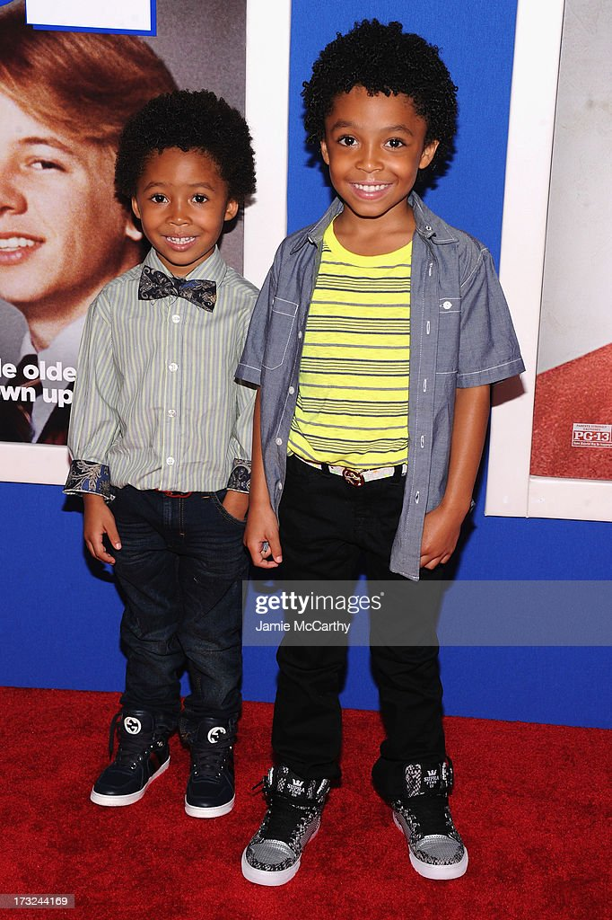 Actor Kaleo Elam (L) and Makhari Elam attend the 'Grown Ups 2' New York Premiere at AMC Lincoln Square Theater on July 10, 2013 in New York City.