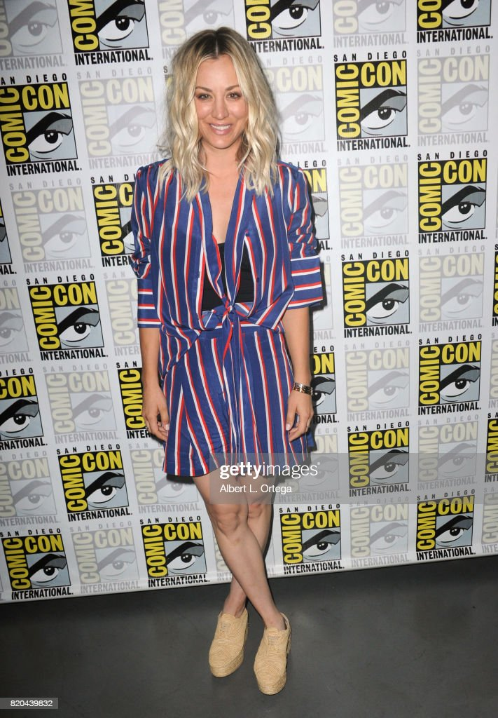 Actor Kaley Cuoco attends Comic-Con International 2017 'The Big Bang Theory' panel at San Diego Convention Center on July 21, 2017 in San Diego, California.