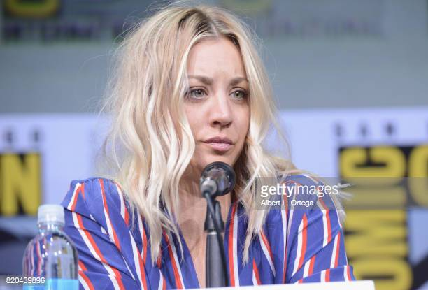 Actor Kaley Cuoco speaks onstage at ComicCon International 2017 'The Big Bang Theory' panel at San Diego Convention Center on July 21 2017 in San...