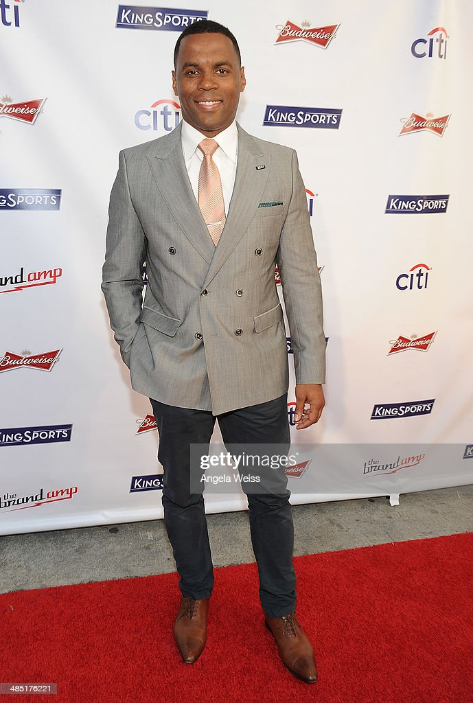 Actor Kamal Moummad attends Boxing at Barker presented by Budweiser at Barkar Hangar on April 16, 2014 in Santa Monica, California.