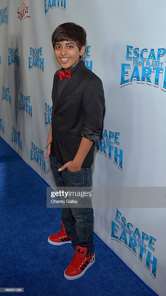 Actor Karan Brar attends the 'Escape From Planet Earth' premiere presented by The Weinstein Company in partnership with Sabra at Mann Chinese 6 on February 2, 2013 in Los Angeles, California.