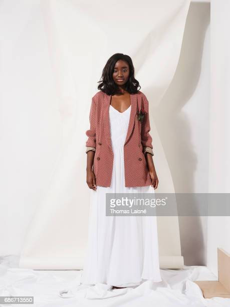 Actor Karidja Toure is photographed on April 17 2017 in Paris France
