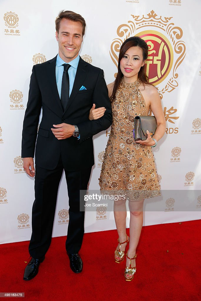 Actor Karl E. Landler (L) and guest attend the Huading Film Awards on June 1, 2014 at Ricardo Montalban Theatre in Los Angeles, California. Huading Film Awards is China's #1 Film awards, in the U.S. for the first time.