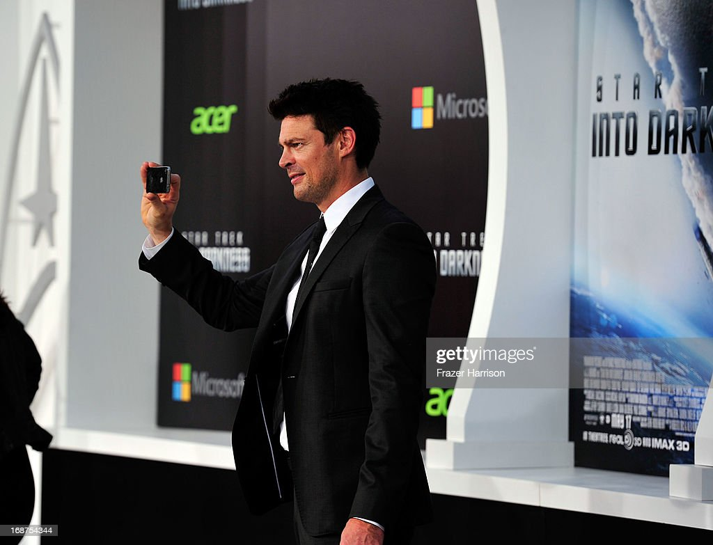 Actor Karl Urban arrives at the premiere of Paramount Pictures' 'Star Trek Into Darkness' at the Dolby Theatre on May 14, 2013 in Hollywood, California.