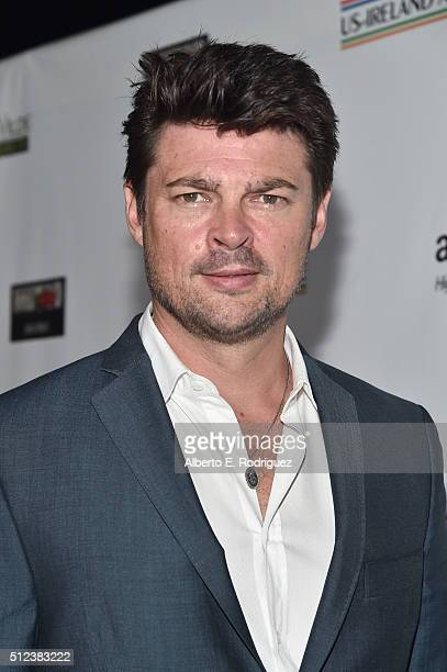 Actor Karl Urban attends the Oscar Wilde Awards at Bad Robot on February 25 2016 in Santa Monica California