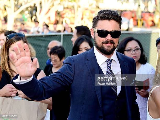"Actor Karl Urban attends the world premiere of the Paramount Pictures title ""Star Trek Beyond"" at Embarcadero Marina Park South on July 20 2016 in..."