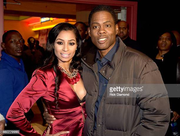 Actor Karlie Redd and Actor Chris Rock attend the VIP Screening of Paramount Pictures' 'Top Five' at Regal Atlantic Station on December 9 2014 in...