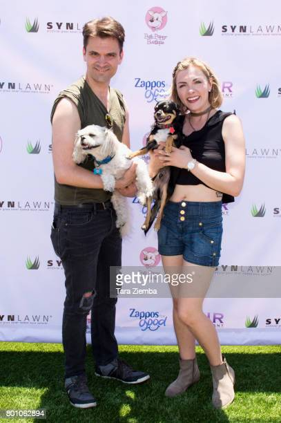 Actor Kash Hovey and actress Chantelle Albers attend 2nd Annual World Dog Day at Vanderpump Dogs on June 25 2017 in Los Angeles California