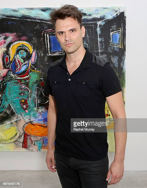 Actor Kash Hovey attends 'Immovable Thoughts' by artist Alexander Yulish With Media Partner Interview Magazine at the Ace Gallery on October 8 2015...