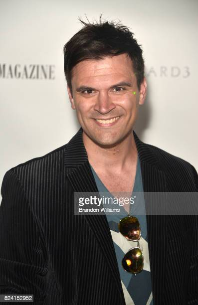 Actor Kash Hovey attends the party for the unveiling of Los Angeles Travel Magazin's 'Endless Summer' issue at Boulevard3 on July 28 2017 in...