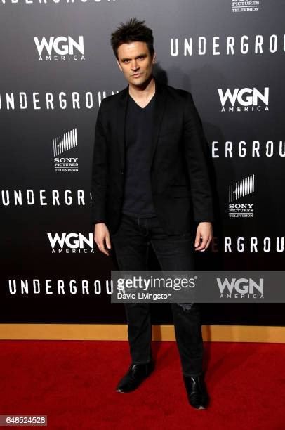 Actor Kash Hovey attends the premiere of WGN America's 'Underground' Season 2 at Westwood Village on February 28 2017 in Los Angeles California