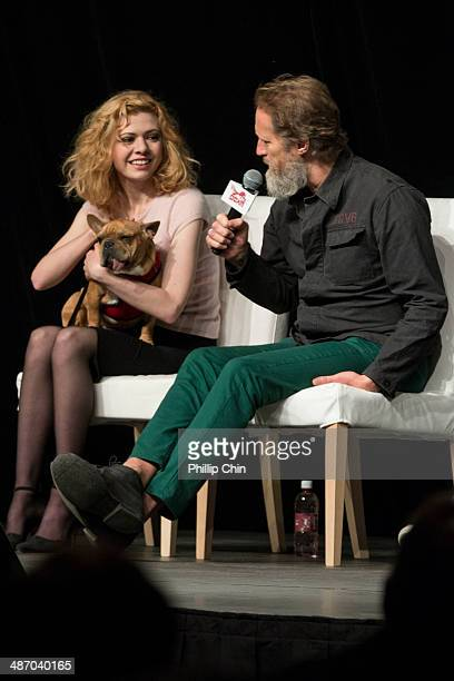 Actor Kasha Kropinski and Christopher Heyerdahl participate in the 'Hell on Wheels' panel discussion at the Expo Pavillion during the Calgary Expo/...