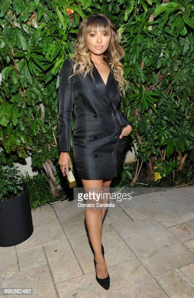 Actor Kat Graham wearing Max Mara at Max Mara Celebrates Zoey Deutch The 2017 Women In Film Max Mara Face of the Future at Chateau Marmont on June 12...