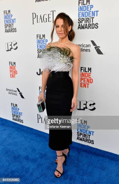 Actor Kate Beckinsale with Piaget at the 2017 Film Independent Spirit Awards at Santa Monica Pier on February 25 2017 in Santa Monica California