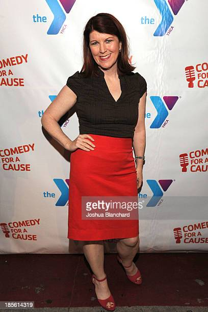 Actor Kate Flannery arrives at the 10th Annual Comedy For A Cause Event benefiting The Hollywood Wilshire YMCA at The Laugh Factory on October 22...