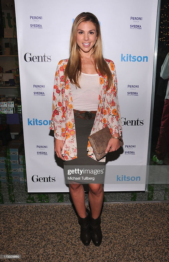 Actor Kate Mansi attends the Gents At Kitson Launch Event at Kitson on Roberston on July 11, 2013 in Beverly Hills, California.