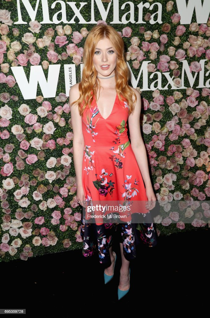 Actor Katherine McNamara attends Max Mara Celebration of Zoey Deutch as The 2017 Women In Film Max Mara Face of The Future Award Recipient at Chateau Marmont on June 12, 2017 in Los Angeles, California.