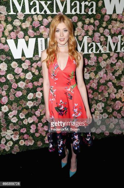 Actor Katherine McNamara attends Max Mara Celebration of Zoey Deutch as The 2017 Women In Film Max Mara Face of The Future Award Recipient at Chateau...