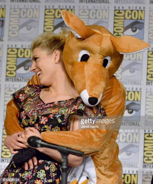 Actor Katheryn Winnick attends the 'Vikings' panel during San Diego ComicCon International 2017 at San Diego Convention Center on July 21 2017 in San...