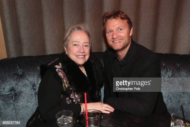 Actor Kathy Bates and guest attend Interscope's Grammy After Party with Lady Gaga at the Peppermint Club on February 12 2017 in Los Angeles California