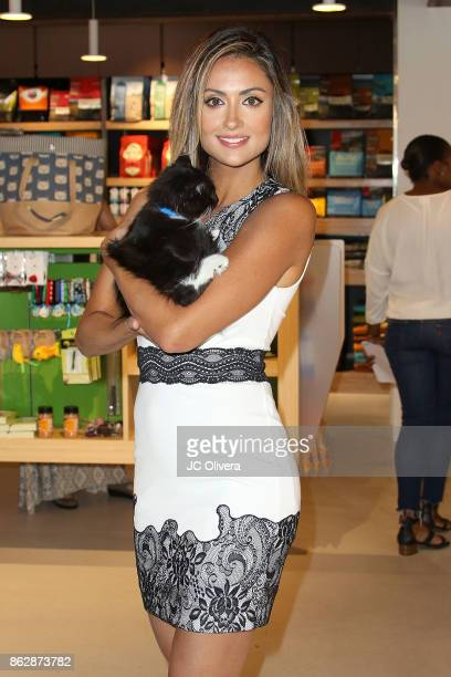 Actor Katie Cleary attends a press conference celebrating Calfornia Governor Jerry Brown signing California assembly Bill 485 The Pet Rescue and...