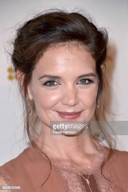 Actor Katie Holmes at the premiere of Reelz's 'The Kennedys After Camelot' at The Paley Center for Media on March 15 2017 in Beverly Hills California