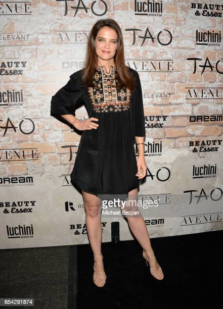 Actor Katie Holmes attends day one of TAO Beauty Essex Avenue Luchini LA Grand Opening on March 16 2017 in Los Angeles California