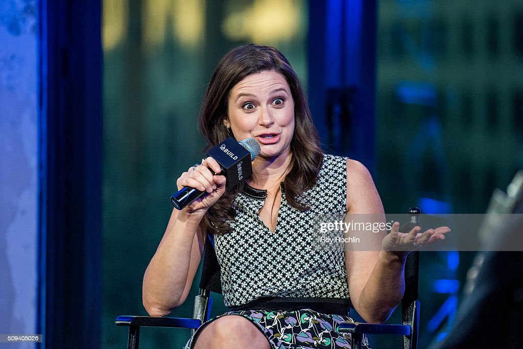 Actor <a gi-track='captionPersonalityLinkClicked' href=/galleries/search?phrase=Katie+Lowes&family=editorial&specificpeople=5527804 ng-click='$event.stopPropagation()'>Katie Lowes</a> discusses her ABC hit show 'Scandal' at AOL Studios In New York on February 10, 2016 in New York City.