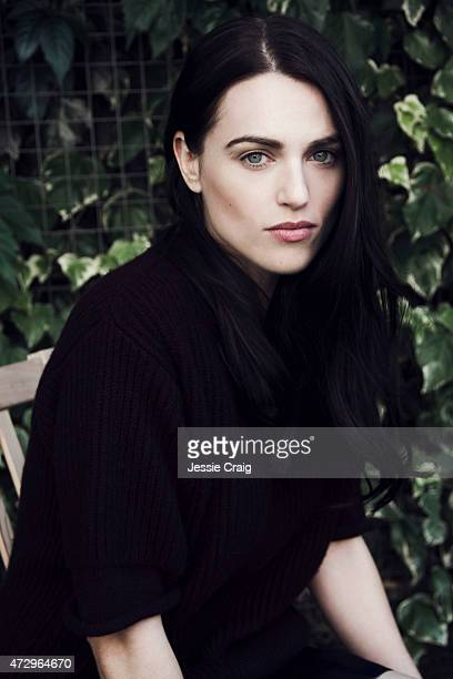 Actor Katie McGrath is photographed for Wonderland on August 9 2013 in London England