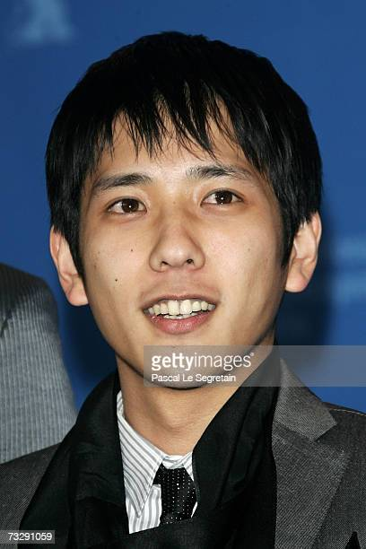 Actor Kazunari Ninomiya attends the photocall to promote the movie 'Letters From Iwo Jima' during the 57th Berlin International Film Festival on...