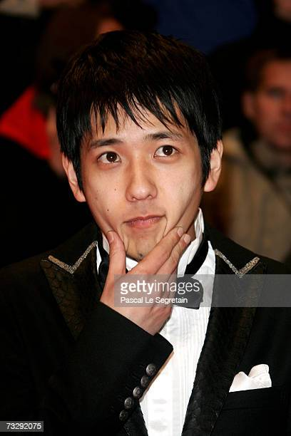 Actor Kazunari Ninomiya attends the premiere to promote the movie 'Letters From Iwo Jima' during the 57th Berlin International Film Festival on...