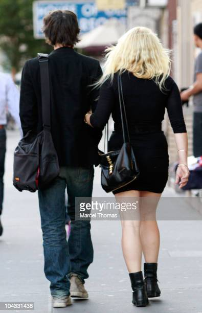 Actor Keanu Reeves and Amanda de Cadenet are seen on the Streets of Manhattan on September 18 2010 in New York City