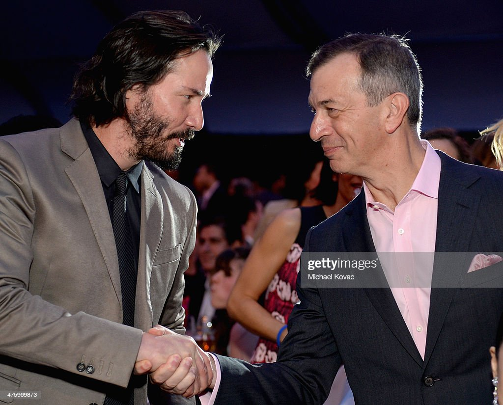 Actor <a gi-track='captionPersonalityLinkClicked' href=/galleries/search?phrase=Keanu+Reeves&family=editorial&specificpeople=171568 ng-click='$event.stopPropagation()'>Keanu Reeves</a> and CEO of Piaget <a gi-track='captionPersonalityLinkClicked' href=/galleries/search?phrase=Philippe+Leopold-Metzger&family=editorial&specificpeople=4900497 ng-click='$event.stopPropagation()'>Philippe Leopold-Metzger</a> attend the 2014 Film Independent Spirit Awards at Santa Monica Beach on March 1, 2014 in Santa Monica, California.