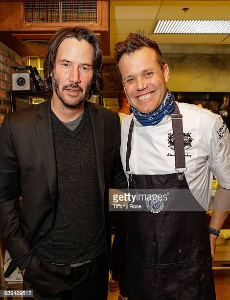 Actor Keanu Reeves and chef Brian Malarkey attend ChefDance sponsored by Sysco and GiftedTaste on January 21 2017 in Park City Utah