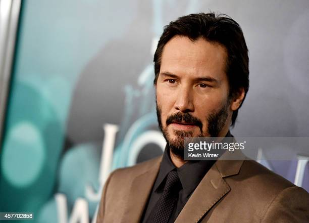 Actor Keanu Reeves arrives at a screening of Lionsgate Films' 'John Wick' at the Arclight Theatre on October 22 2014 in Los Angeles California