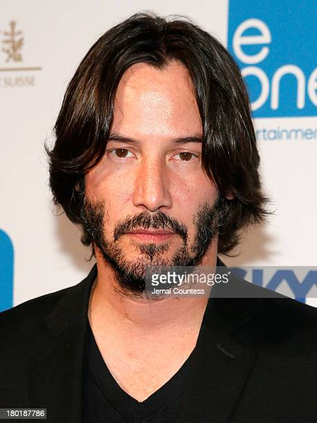 Actor Keanu Reeves arrives at the Entertainment One Celebrates 29 Films At TIFF during the 2013 Toronto International Film Festival at The Roundhouse...