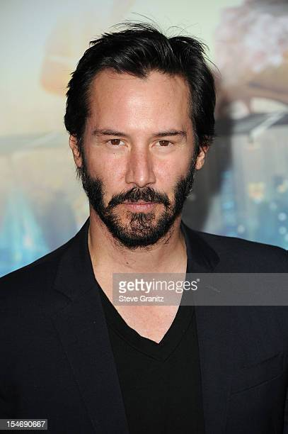 Actor Keanu Reeves arrives at the Los Angeles premiere of 'Cloud Atlas' at Grauman's Chinese Theatre on October 24 2012 in Hollywood California