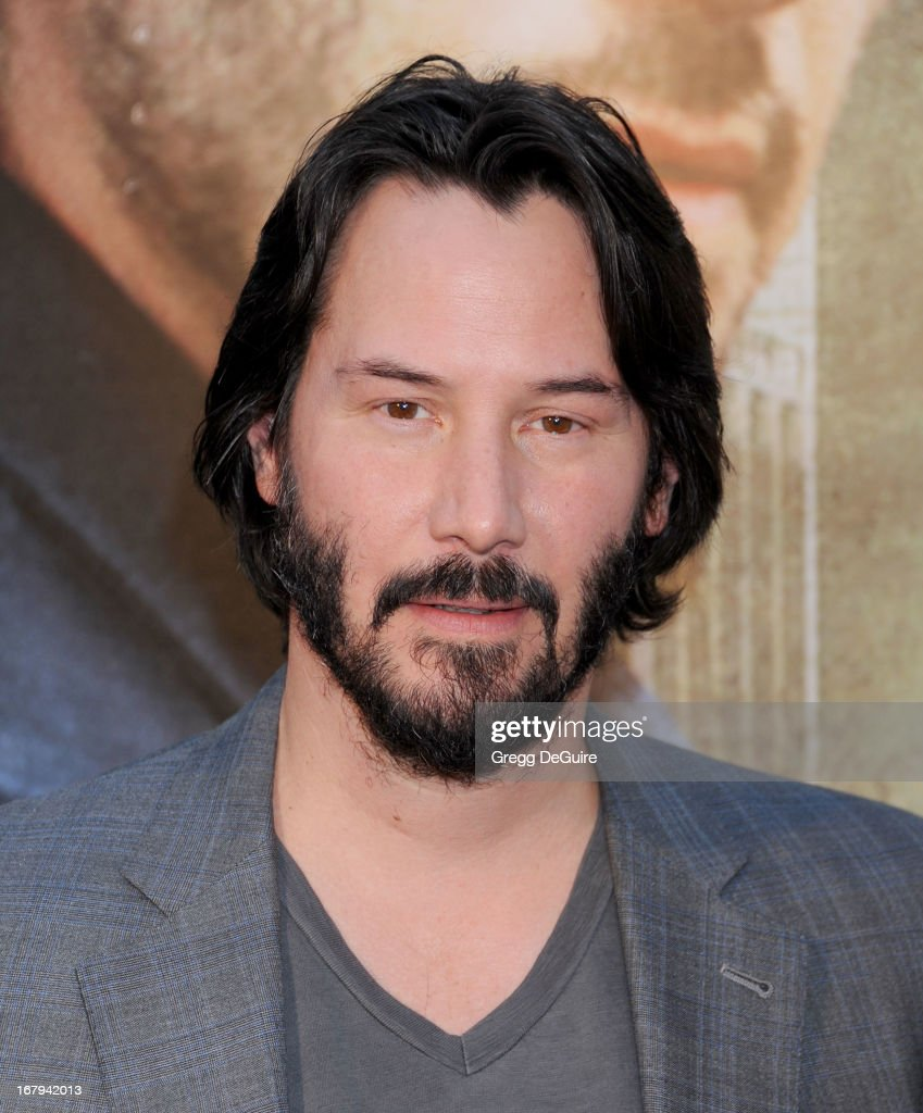 Actor <a gi-track='captionPersonalityLinkClicked' href=/galleries/search?phrase=Keanu+Reeves&family=editorial&specificpeople=171568 ng-click='$event.stopPropagation()'>Keanu Reeves</a> arrives at the Los Angeles premiere of 'Generation UM' at ArcLight Hollywood on May 2, 2013 in Hollywood, California.