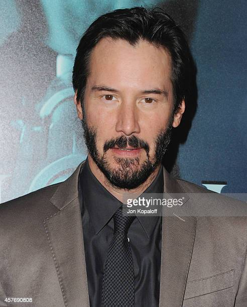 Actor Keanu Reeves arrives at the Los Angeles special screening 'John Wick' at ArcLight Hollywood on October 22 2014 in Hollywood California