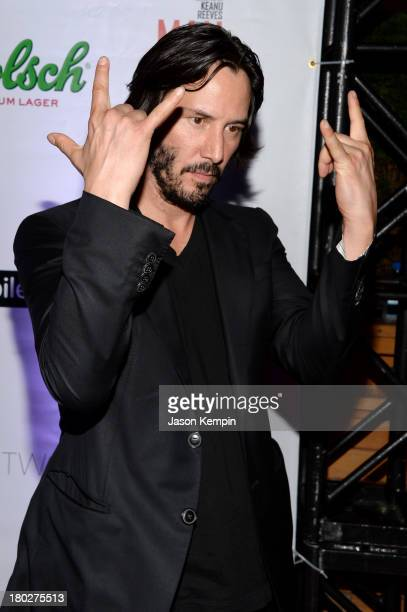 Actor Keanu Reeves arrives at the 'Man Of Tai Chi' After Party during the 2013 Toronto International Film Festival at FStop on September 10 2013 in...