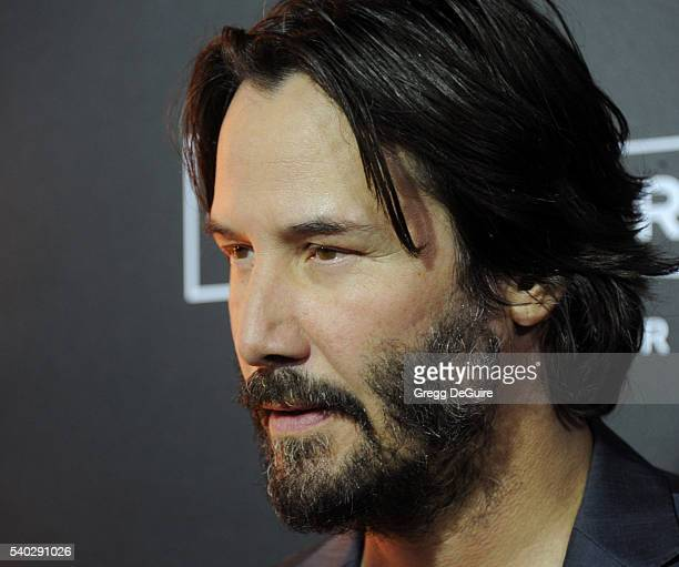 Actor Keanu Reeves arrives at the premiere of Amazon's 'The Neon Demon' at ArcLight Cinemas Cinerama Dome on June 14 2016 in Hollywood California
