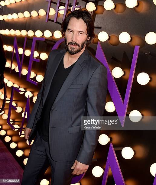 Actor Keanu Reeves arrives at the premiere of Amazon's 'The Neon Demon' at the Arclight Theatre on June 14 2016 in Los Angeles California