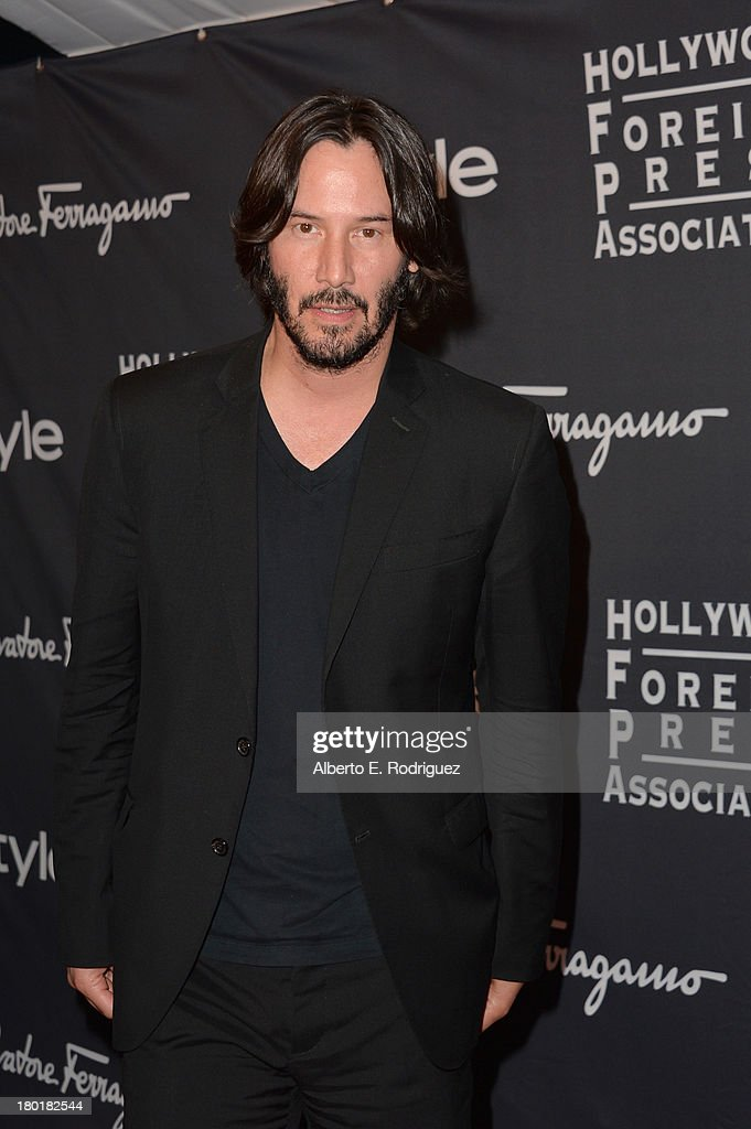 Actor <a gi-track='captionPersonalityLinkClicked' href=/galleries/search?phrase=Keanu+Reeves&family=editorial&specificpeople=171568 ng-click='$event.stopPropagation()'>Keanu Reeves</a> arrives at the TIFF HFPA - InStyle Party during the 2013 Toronto International Film Festival at Windsor Arms Hotel on September 9, 2013 in Toronto, Canada.