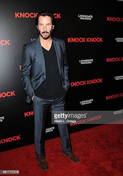 Actor Keanu Reeves arrives for the premiere of Lionsgate premiere's 'Knock Knock' held at TCL Chinese Theatre on October 7 2015 in Hollywood...