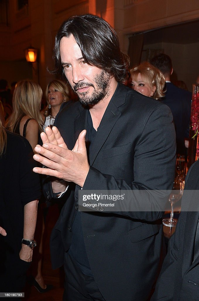 Actor <a gi-track='captionPersonalityLinkClicked' href=/galleries/search?phrase=Keanu+Reeves&family=editorial&specificpeople=171568 ng-click='$event.stopPropagation()'>Keanu Reeves</a> attends InStyle and the Hollywood Foreign Press Association's Annual Toronto International Film Festival Party, hosted by Salvatore Ferragamo on Monday, September 9, 2013 held at the Windsor Arms Hotel in Toronto, Canada.