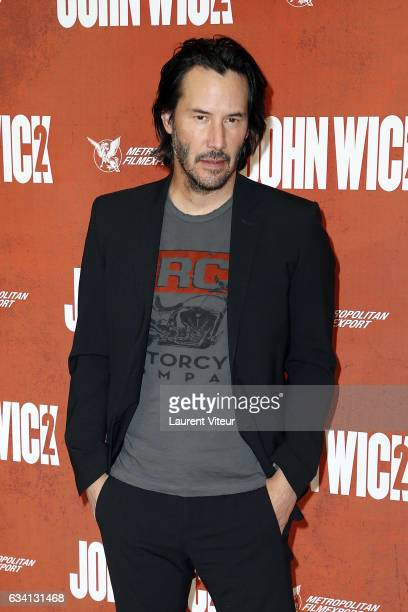 Actor Keanu Reeves attends 'John Wick 2' at Hotel Ritz on February 7 2017 in Paris France